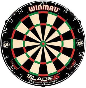 Winmau Blade 5 Dual Core Bristle Dartboard - Bundle options with Premium Darts