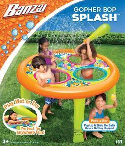 BANZAI Inflatable Gopher Bop Sprinkler Summer Party Water Game Backyard & Beach