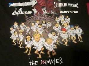 Rock & Roll Metallica 2003 Summer Sanitarium Concert Shirt Limpbizkit Deftones