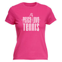 Funny Novelty Tops T-Shirt Womens tee TShirt - Tennis Peace Love