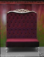 Chaise High Back Sofa - Double High Back Chair - Adonis II Purple High Back Sofa