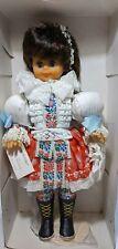 "VTG Folk Doll Czech Republic Traditional Costume ""Veronika"" Vinyl 18"" NRFB"