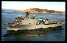 USS Germantown LSD-42 postcard landing ship dock US Navy