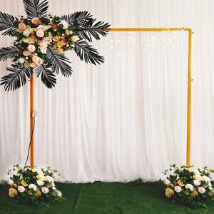 Wedding Stand Flower Rack Arch Iron 2X2M Party Door Garden Metal Prop Decor