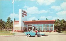 Florida Information Station FL old 1950's car convertible American Flag Postcard