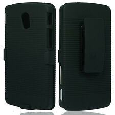 Pantech Discover P9090 (AT & T)  Shell Holster Case Cover with Belt Cl