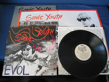 Sonic Youth Evol Australian Vinyl LP in Limited Numbered Plastic Bag Poster AUS