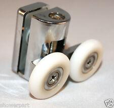 2 x TOP Double Shower Door ROLLERS/Runners/Wheels 23mm in dia Replacements L073