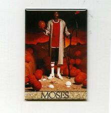 MOSES MALONE - MINI POSTER FRIDGE MAGNET (nike 1984 sixers 76ers costacos rare)