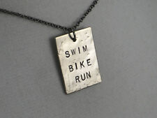 SWIM BIKE RUN TRIATHLON NECKLACE~Run Jewelry~Triathlete Necklace~Swim Jewelry