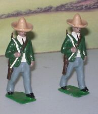 UNKNOWN MAKE SOLIDCAST  MEXICAN SOLDIERS X2  1/32 SCALE