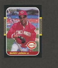 1987 Donruss # 492 Barry Larkin RC Rookie Card REVERSE BACK