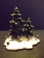 "DEPT 56 GENERAL VILLAGE  ""DOUBLE PINE TREES"" - #52619 - NEW IN BOX"