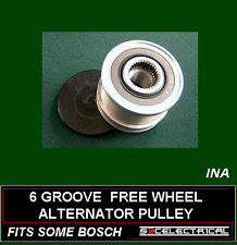 6 GROOVE INA ALTERNATOR FREE WHEEL OVER RUNNING PULLEY TO FIT SOME BOSCH 232624
