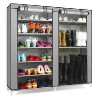 Portable Shoe Rack Boot Shelf Shelves Storage Closet Organizer Cabinet w/ Cover