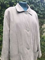 Taupe Vintage Nuage Debenhams Quilted Oversize Coat UK 12 Great Condition