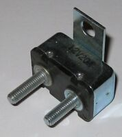 12 V 20 A Automatic Reset Circuit Breaker with Mounting Tab and Theaded 10 - 32