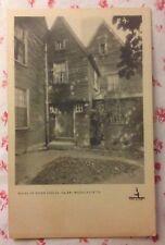 Vintage 1920s B&W Postcard House of Seven Gables, Salem, Massachusetts