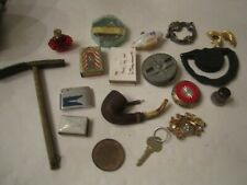 Junk Drawer Lot Of Collectibles - Metal Items & Trinkets And Other Things Tub D