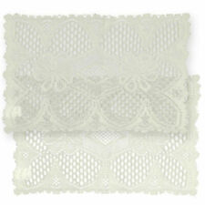 Decorative Lace Doilies Rectangular White or Cream Set of 2 Floral Pattern