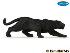 Papo BLACK PANTHER solid plastic toy wild zoo animal LEOPARD cat * NEW *💥
