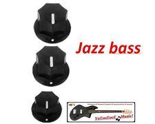 NEW 3 Boutons pour JAZZ Bass  pour guitare basse Fender