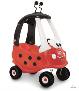 Little Tikes Toddler/Kids Cozy Coupe Push Kick Ride On Toy Ladybug Truck 18m-5y