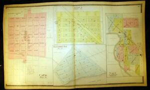 Capac Yale Avoca Baltimore Bay Plat Map 1898 St. Clair County Michigan