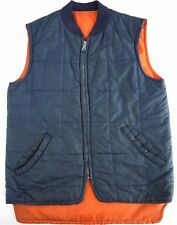 DISTRESSED VINTAGE reversible WORK WEAR shop hunting vest mens EMAR ZIPPER