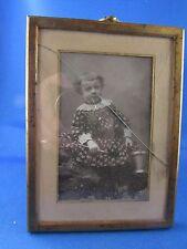 ancien petit cadre  porte photo en laiton doré style L XVI 19e