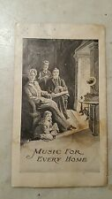 Ca. 1901 Edison Cylinder Phonograph Advertising Flyer Triumph Home Standard Gem