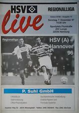 Programm 1997/98 Hamburger SV Am. - Hannover 96