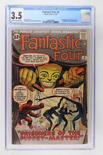 Fantastic Four #8 - Marvel 1962 CGC 3.5 1st Appearance of the Puppet Master!
