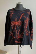NWOT DRIES VAN NOTEN Embroidered Sweater Sweatshirt Black/Red | Large