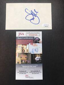 Joe Gibbs Sign 3x5 Index Card JSA CERTIFIED Autograph Washington Redskins Coach!