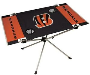 Cincinnati Bengals Endzone Tailgate Table [NEW] NFL Portable Chair Fold Party