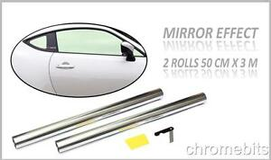 6M x 50cm Car Auto Van Chrome Silver Window Tint Film OneWay Mirror Tinting Foil