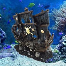 Artificial Aquarium Sunk Boat Decoration Fish Tank Ancient Wreck Ship Ornament
