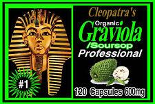 Cleopatras Organic Natural Soursop Graviola Guanabana 120 Capsules 1200mg Servin