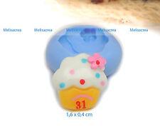 Moule Silicone Mini cup cake 1,6cm - fimo, résine, plâtre, porcelaine froide