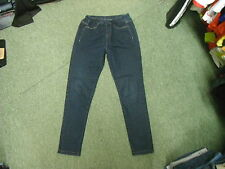 "24/7 Jeggings Jeans Size 10 Leg 27"" Faded Dark Blue Ladies Jeans"