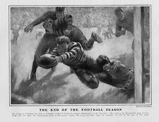 FOOTBALL PRINCETON DEFEATS YALE COLLEGE UNIVERSITY END OF THE FOOTBALL SEASON