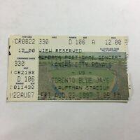 Kansas City Royals vs. Toronto Blue Jays Game August 22, 1997 Ticket Stub X1