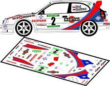 DECALS 1/43 TOYOTA COROLLA WRC - #2 - KUZAJ - RALLYE TATRY 2000 - D43140