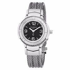 Charriol Women's  Celtic Black Dial Stainless Steel Quartz Watch CE426S640A003