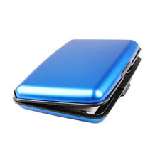 5pcs Aluminum Wallet RFID Pocket Water Resistant Business ID Credit Card Case Blue