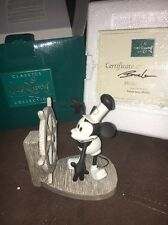 WDCC Disney Mickey Mouse Steamboat Willie Mickey's Debut Figurine w Box COA
