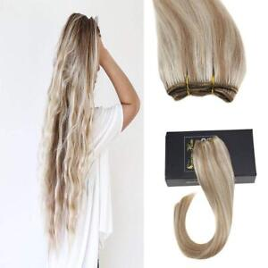 Sunny Hair Weft Extensions 100% Human Hair Sew in Bundles 100g Highlights 27/613