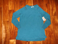 NWT Womens KENNETH COLE Lyons Blue Cold Shoulder Shirt Top Size M Medium $39