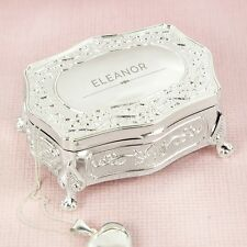 Personalised Any Name Small Antique Jewellery Trinket Box Mother's Day Gifts